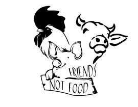 """Nro 23 kilpailuun Vegan tattoo - """"Friends Not Food"""" käyttäjältä longthanh97"""