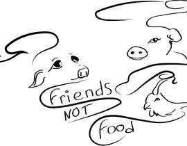 """Nro 11 kilpailuun Vegan tattoo - """"Friends Not Food"""" käyttäjältä Pandred"""