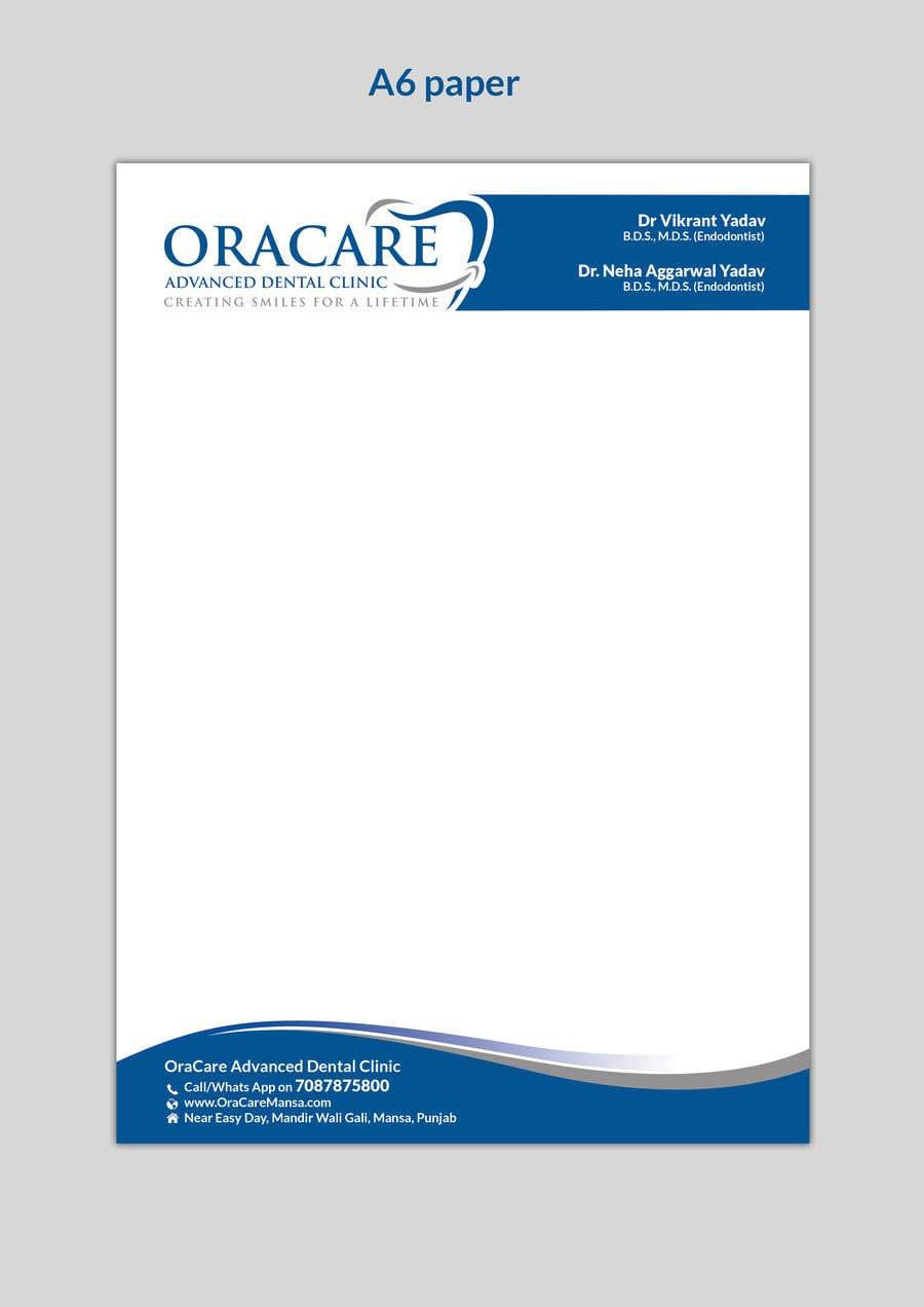 Konkurrenceindlæg #10 for Design Letter Head and Slip pad for Dental Clinic