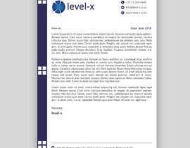 Nro 13 kilpailuun Letterhead design for Levelx 2018-June käyttäjältä AdoptGraphic