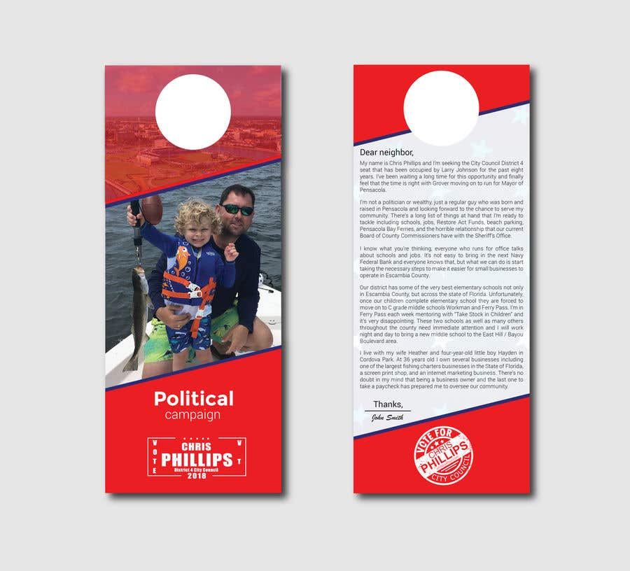 Entry 24 By Creativefolders For Create Door Hanger Freelancer