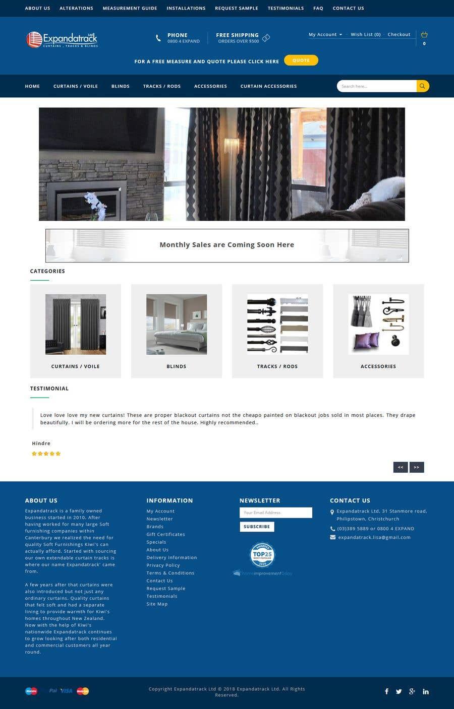 Proposition n°6 du concours Wordpress Theme for Garage door 1 of 3