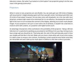 "#6 para Write an article titled ""Should I Buy A Projector For Video Gaming?"" por AbdullahHMRD"