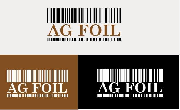 Kilpailutyö #84 kilpailussa Logo Design for AG FOIL