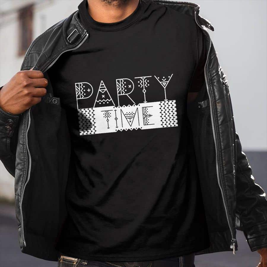 Contest Entry #42 for T-shirt Design   ( party time)