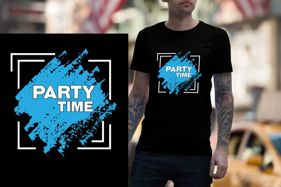 Contest Entry #62 for T-shirt Design   ( party time)
