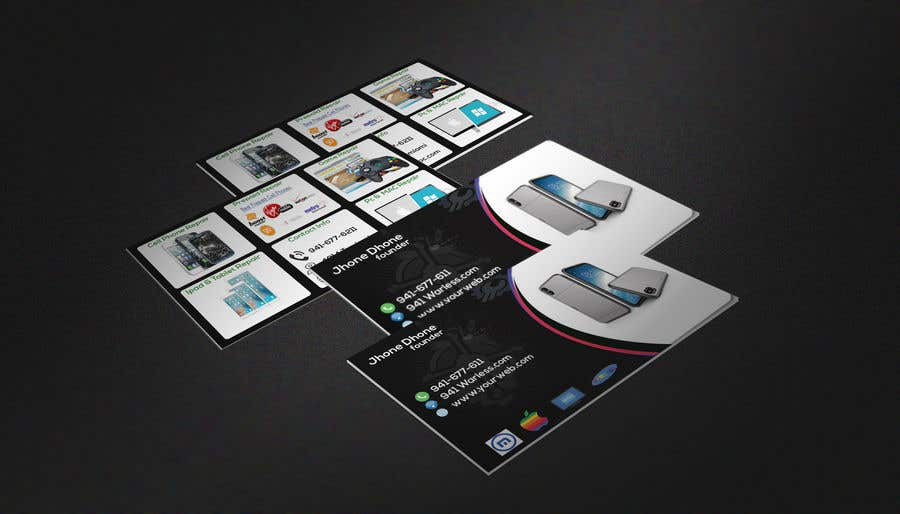 Entry 35 by ezabul for need business cards template for mobile cell contest entry 35 for need business cards template for mobile cell phonecomputer repair wajeb Images