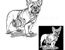 #52 for Illustrate a french Bulldog - Hand Drawn by KatzePose