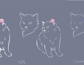 #9 para Design a Cat Tattoo por sketchdom