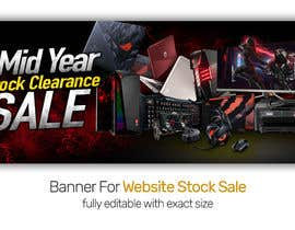 #25 para Design A Banner For Website Stock Sale de ArifurRahaman13