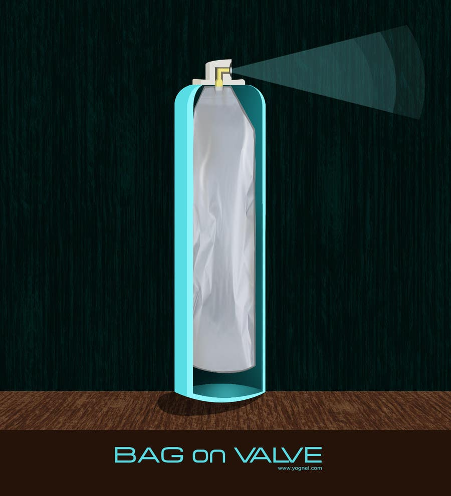 Конкурсная заявка №28 для Illustration to illustrate a new aerosol spray technology