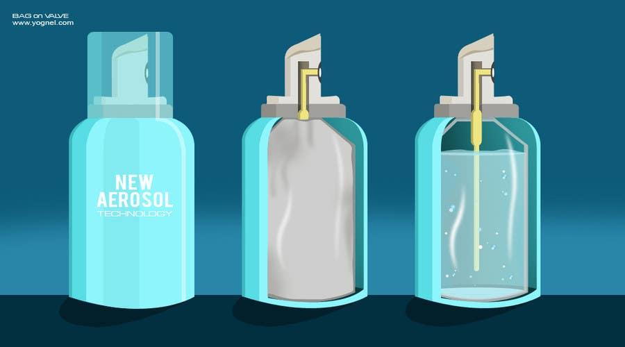 Inscrição nº                                         6                                      do Concurso para                                         Illustration to illustrate a new aerosol spray technology