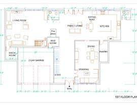 #41 para design 1st floor floor plan por tdambuet