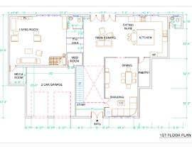 #48 para design 1st floor floor plan por tdambuet