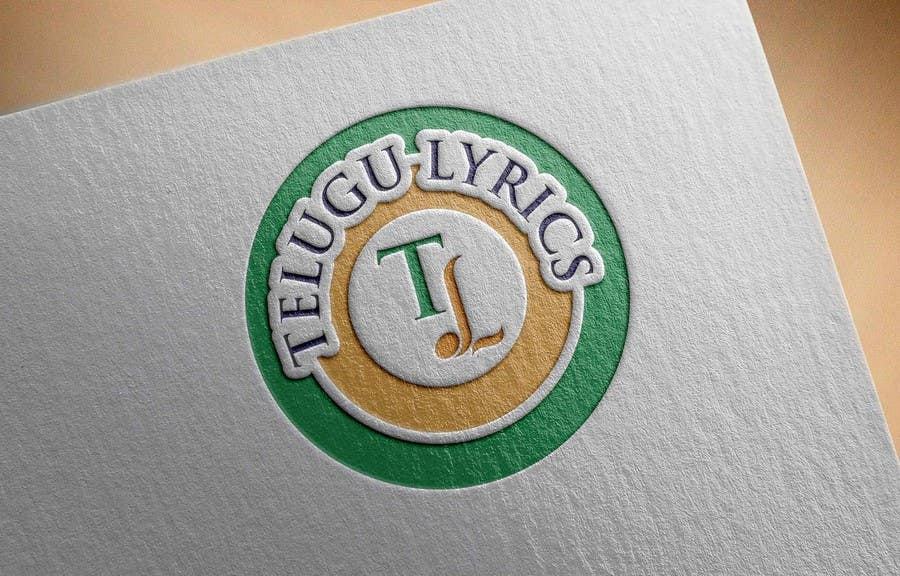 """Inscrição nº                                         8                                      do Concurso para                                         Design a Logo for Telugu Music Portal with Primary focus on """"Telugu Lyrics"""""""
