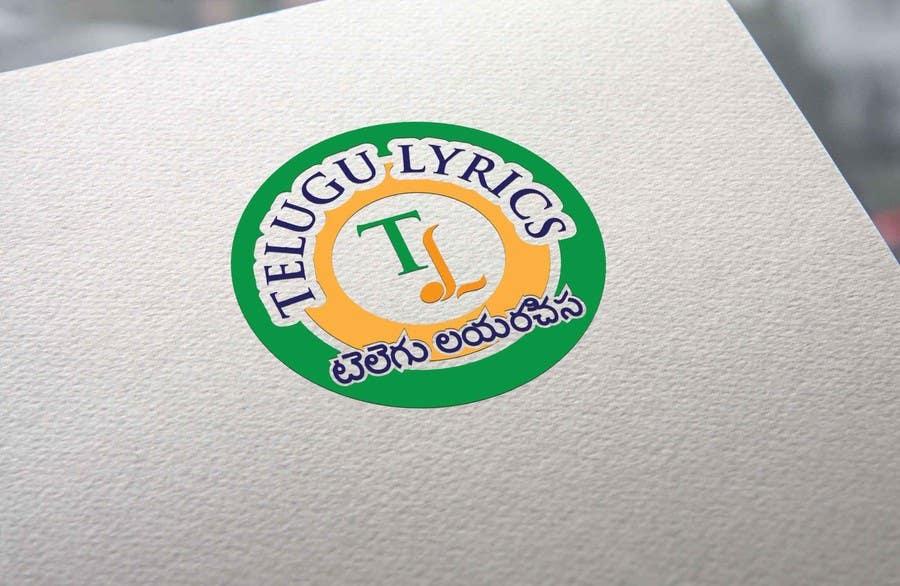 """Inscrição nº                                         25                                      do Concurso para                                         Design a Logo for Telugu Music Portal with Primary focus on """"Telugu Lyrics"""""""