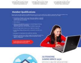 Nro 26 kilpailuun Design a Website Mockup for Credit Union (bank) käyttäjältä znsolutions