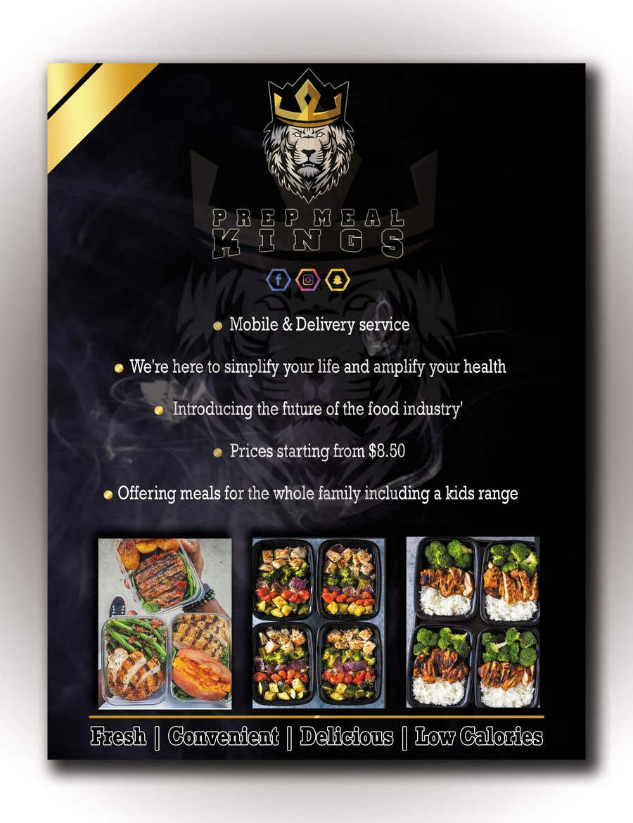 Contest Entry #6 for Prep Meals Flyer