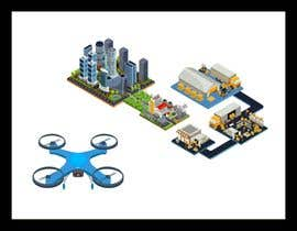 #6 для Create a drone service industry animation від KreativeLancer