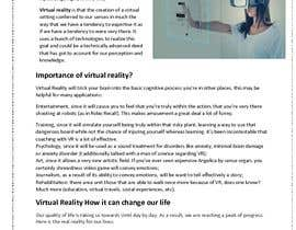 nº 5 pour I need a blog about Virtual Reality par nazmuladhor