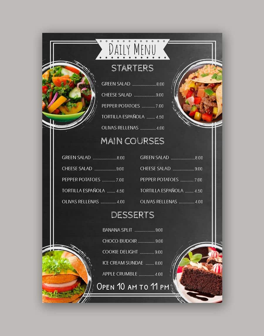 Entry 2 By Luqman47 For Restaurant Menu Design Freelancer