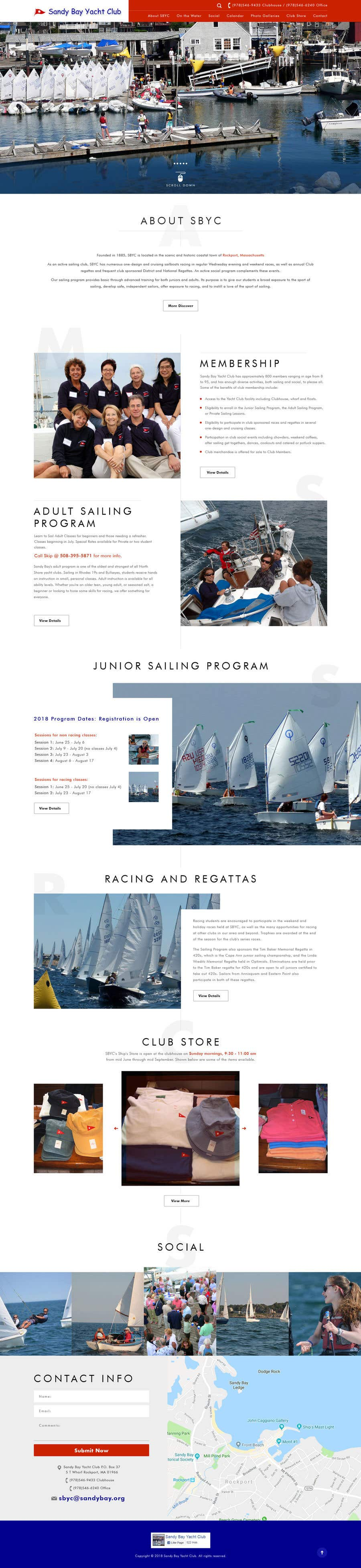 Bài tham dự cuộc thi #38 cho Design a Website for a US Yacht Club
