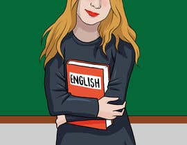 #18 para Design this girl as a teacher cartoon character. por kimcarreon