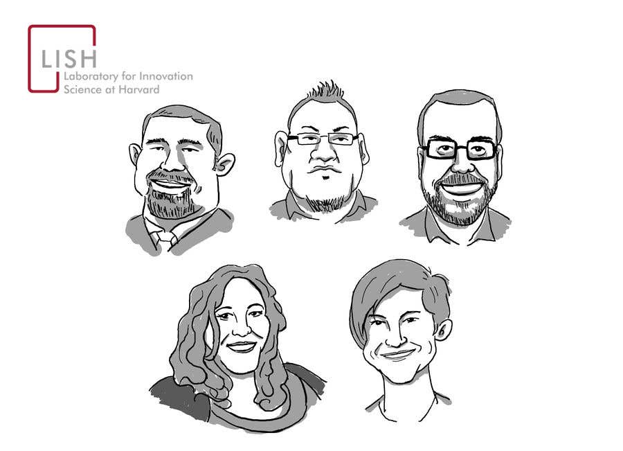 Bài tham dự cuộc thi #86 cho Combine photos into a group photo caricature