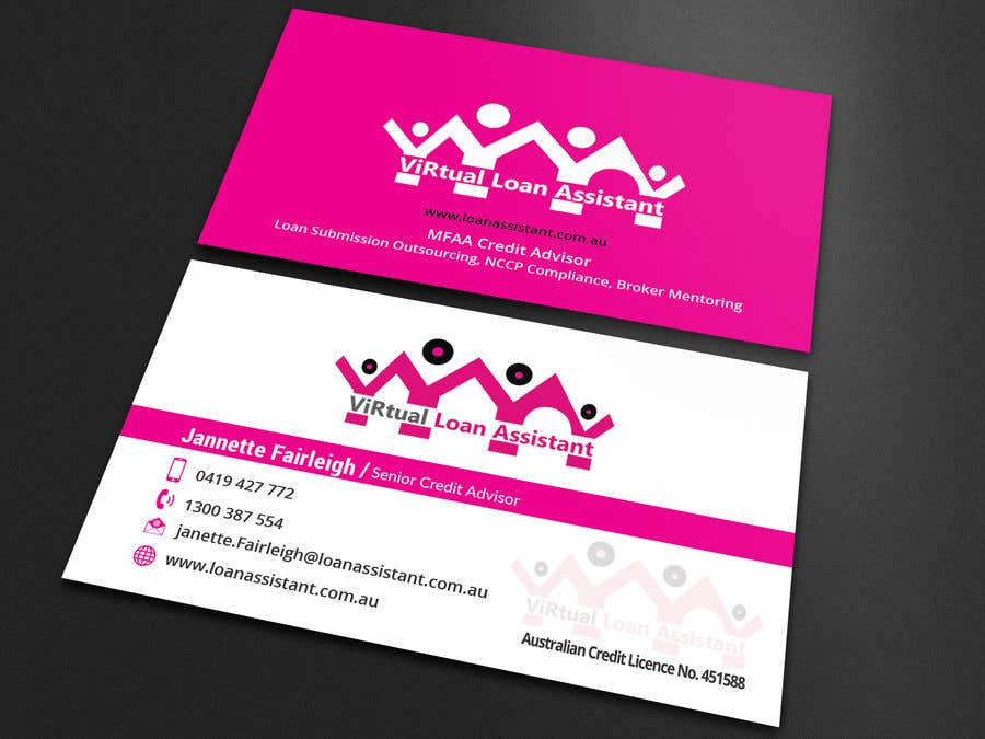 Contest Entry #106 for Logo kit  for ViRtual Loan Assistant - Logo- Business card design