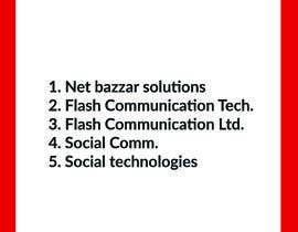 #25 para I need a name for my new communication technology co.  Our service is to setup solar power inverter station and power bank rental for mobile phones and other mobile services de fuadsgn