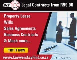 nº 4 pour Gif animated advertisement banner google, fb, IG all sizes & approved format / sizes.   Advertisement Content: Legal Contracts from R99.00  Property Lease Wills Sales Agreements Business Contracts & Much more www.LawyersEzyFind.co.za par ruzenmhj