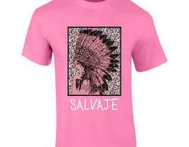 """#2 for Estampacion para camisetas. India(retocar un poco ya que es extraida de google) encima del cuadro de leopardo y debajo palabra """"SALVAJE"""" con la tipografia q pongo en la foto by DrRappy"""