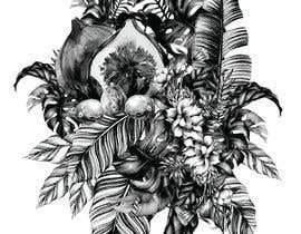 #54 untuk £100 for a Black and White hand or computer drawn tropical image of leaves, fruits and trees (see attached). oleh iomikelsone