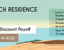 nº 124 pour Design beach residence teaser banner par maazullahminhas