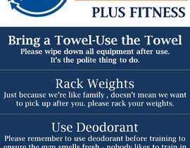 Nro 15 kilpailuun easy gym etiquette sign käyttäjältä AkS0409