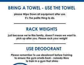 Nro 6 kilpailuun easy gym etiquette sign käyttäjältä HabibAhmed2150