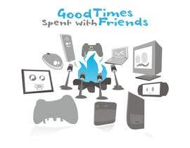 epeslvgry tarafından Gaming theme t-shirt design wanted – Good Times Spent with Friends için no 42