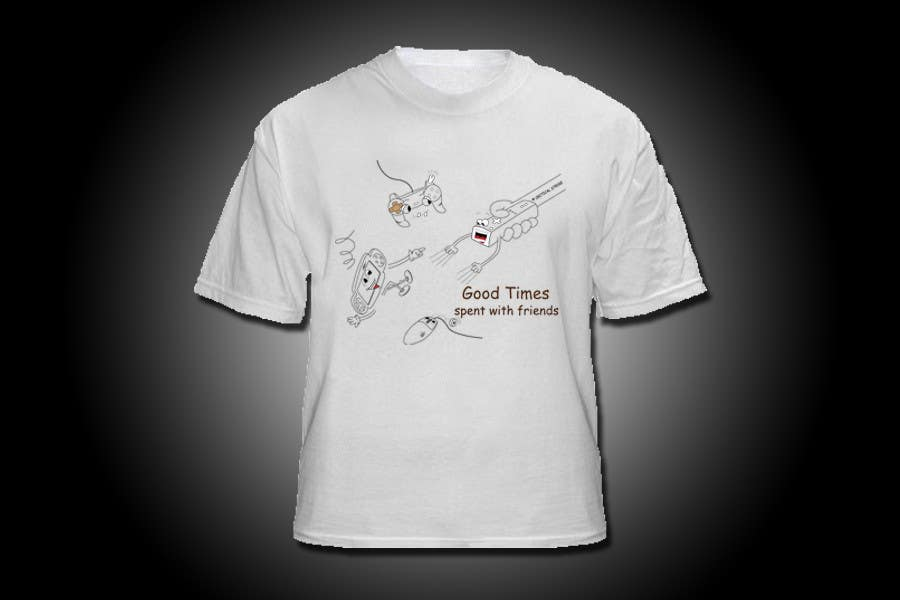 Contest Entry #                                        8                                      for                                         Gaming theme t-shirt design wanted – Good Times Spent with Friends