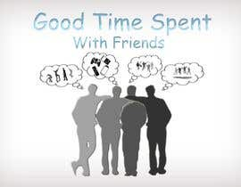 #57 para Gaming theme t-shirt design wanted – Good Times Spent with Friends de midoqaz