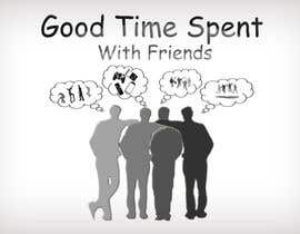#55 para Gaming theme t-shirt design wanted – Good Times Spent with Friends de midoqaz