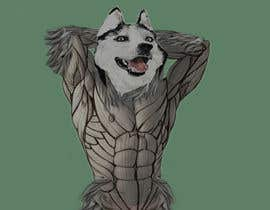 nº 7 pour Illustration of a huskie dog with muscles par gurjitlion