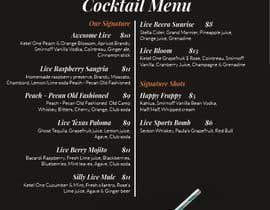 nº 14 pour URGENT: Re-design bar menus par yuliabintani