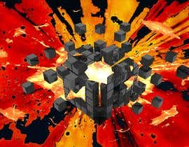 #31 for I need a exploding sci-fi cube in space by frcolantonio