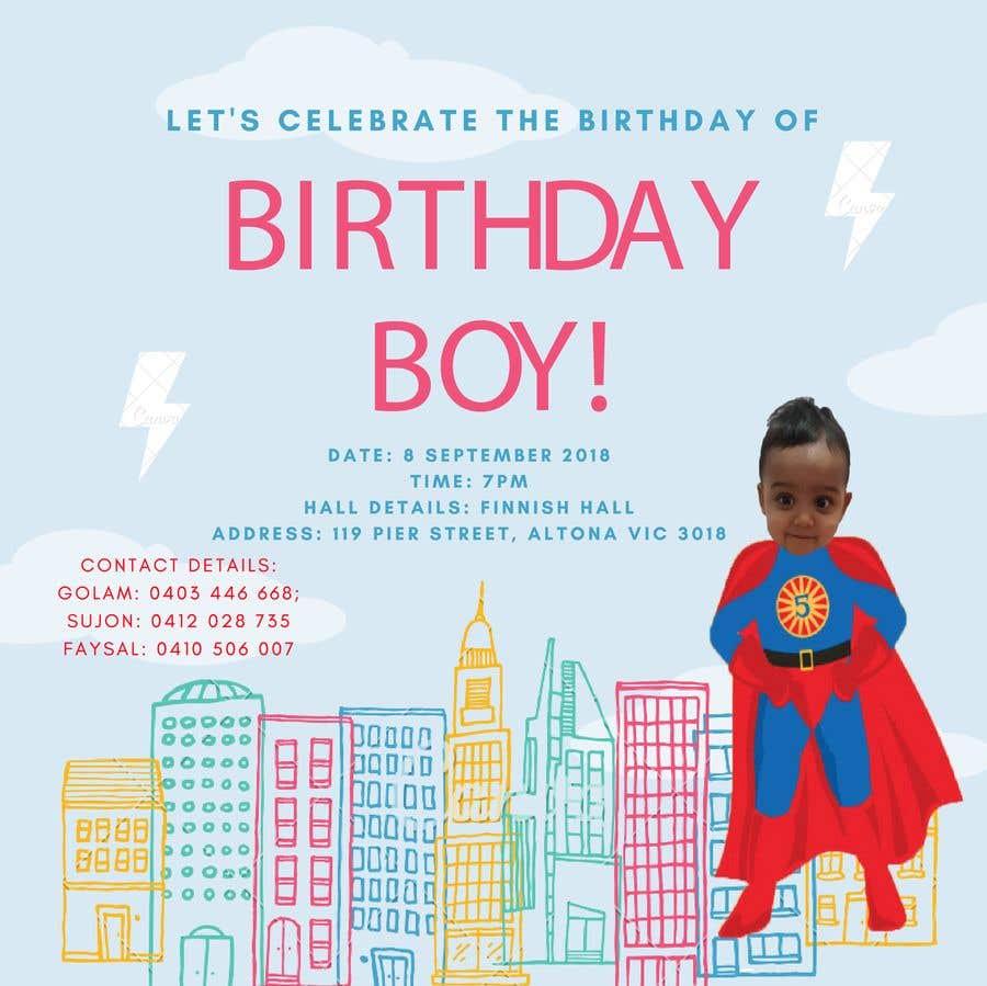 Конкурсная заявка №17 для I need an inviation card design for my son's first Birthday