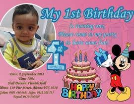 #23 для I need an inviation card design for my son's first Birthday от ssayem071