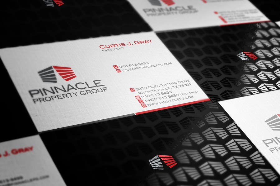 Contest Entry #                                        67                                      for                                         Business Card Design for Pinnacle Property Group - POTENTIAL LONG-TERM EMPLOYER