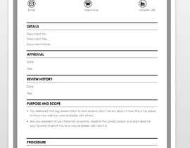 Policy template - word version design | Freelancer
