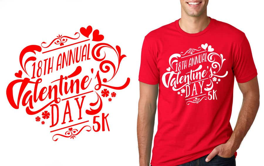 Entry 27 By Marijakalina For Valentines Day 5k T Shirt Design