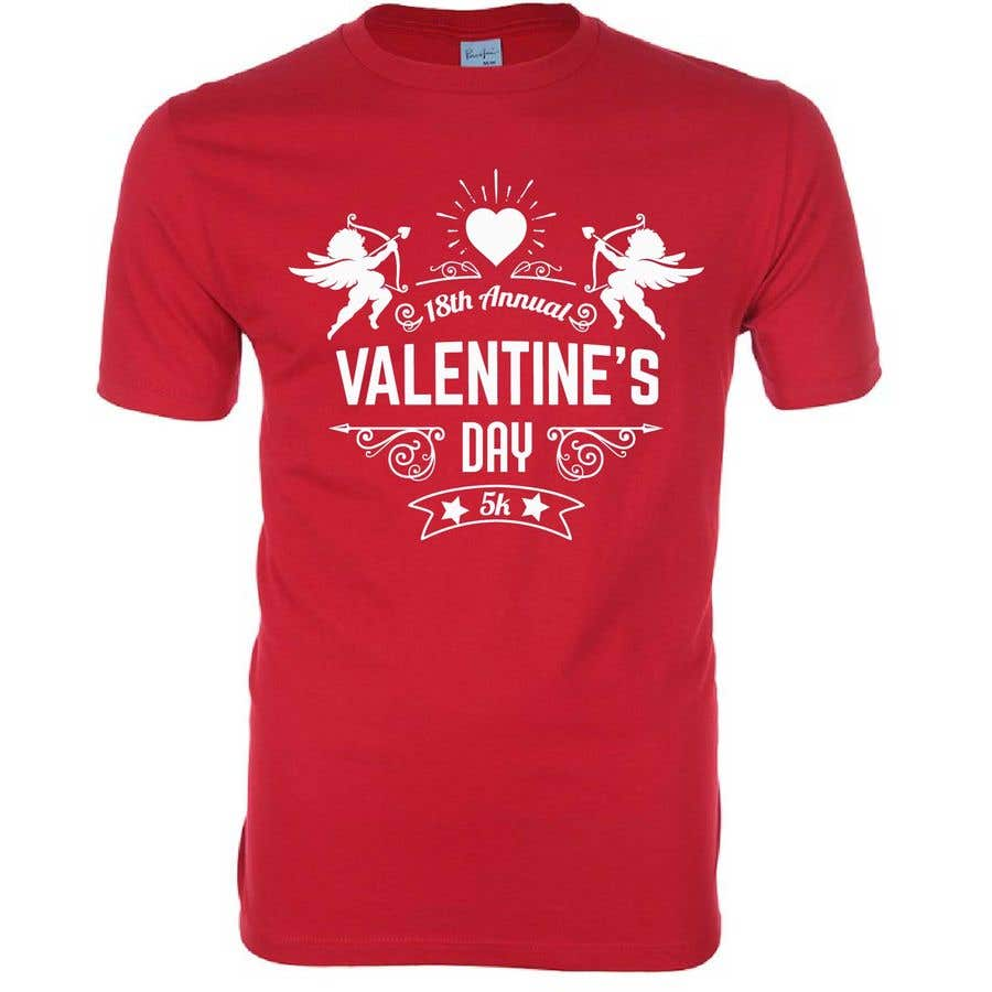 Entry 29 By Shovonnalchity2 For Valentines Day 5k T Shirt Design
