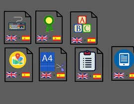 #11 for Set of 7 Icon Illustrations needed for online-shop (language learning related) by nurnobijashim